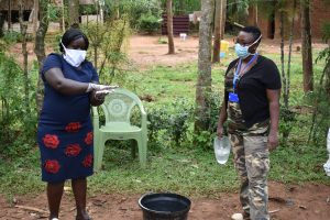 The Water Project:  Handwashing Demonstration By Team Leader Catherine Chepkemoi