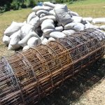 The Water Project: Kapsaoi Primary School -  Bags Of Cement Mix And Wire Ready For Use