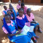 The Water Project: Kapsaoi Primary School -  Pupils At Training