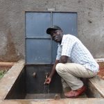 The Water Project: Gamalenga Primary School -  The Deputy Head Teacher At The Water Point