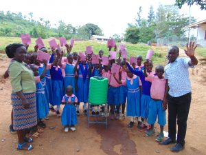 The Water Project:  Pupils With Training Materials Teacher And Trainer Victor