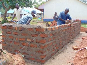 The Water Project:  Latrine Brick Walling