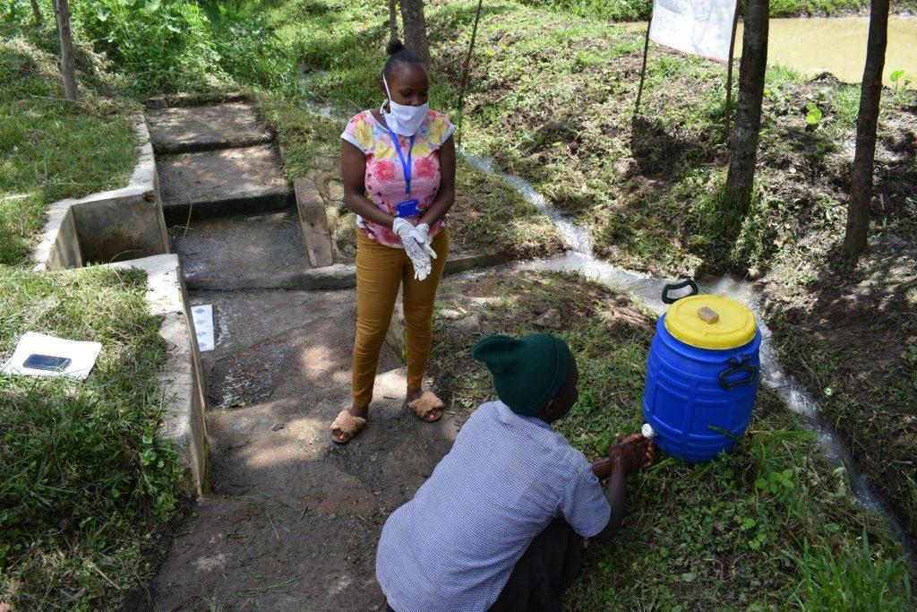 The Water Project : 3-covid19-kenya18110-handwashing-practice-demonstration