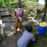 The Water Project: Ingavira Community, Laban Mwanzo Spring -  Handwashing Practice Demonstration