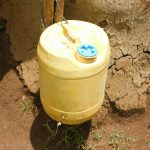 The Water Project: Mungakha Community, Nyanje Spring -  A Leaky Tine With Soap At The Nearest Houshold