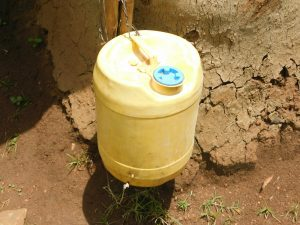 The Water Project:  A Leaky Tine With Soap At The Nearest Houshold