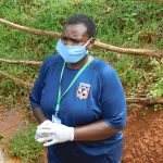 The Water Project: Emulembo Community, Gideon Spring -  Safety Gear Check Team Leader Emmah