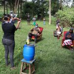 The Water Project: Mukhangu Community, Okumu Spring -  Handwashing Demonstration