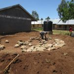 The Water Project: St. Gerald Mayuge Secondary School -  Rocks Laid On Tank Foundation