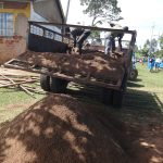 The Water Project: St. Michael Mukongolo Primary School -  Truck Delivers Clean Sand For Tank Construction