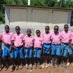 The Water Project: Kapsaoi Primary School -  Boys Saying Thank You For New Latrines
