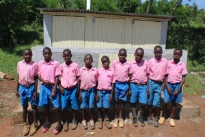 The Water Project:  Boys Saying Thank You For New Latrines