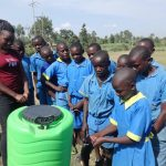 The Water Project: St. Michael Mukongolo Primary School -  Students Demonstrate Handwashing