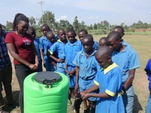 The Water Project:  Students Demonstrate Handwashing