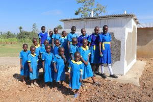 The Water Project:  The Girls At Their New Latrines