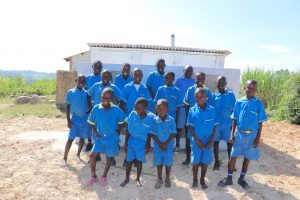 The Water Project:  The Gents With Big Smiles At Their New Latrines