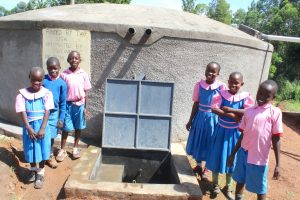 The Water Project:  Pupils Posing At Water Point