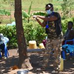 The Water Project: Musango Community, M'muse Spring -  Proper Handwashing Demonstration