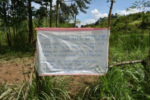 The Water Project:  Sign Left At The Spring Reminding Of Handwashing