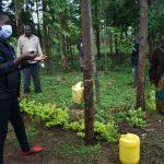 The Water Project: Namarambi Community, Iddi Spring -  Proper Handwashing Demonstrations