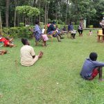 The Water Project: Lugango Community, Lugango Spring -  Social Distancing At The Training