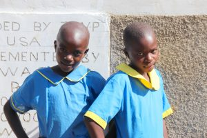 The Water Project:  Smiles In Front Of New Latrines
