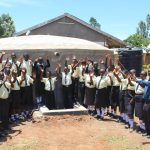 The Water Project: St. Gerald Mayuge Secondary School -  Pupils And Staff Celebrate The New Rain Tank