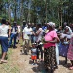 The Water Project: Shikangania Community, Abungana Spring -  Group Discussions Using Diagrams