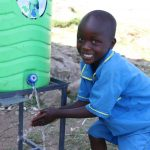The Water Project: St. Michael Mukongolo Primary School -  Big Smiles At The Handwashing Station