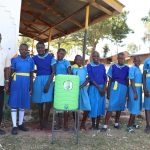 The Water Project: St. Michael Mukongolo Primary School -  The Ladies With Head Teacher Mutende And A Handwashing Station