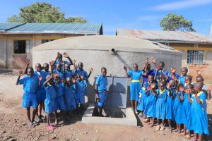 The Water Project:  Pupils Celebrate The Tank