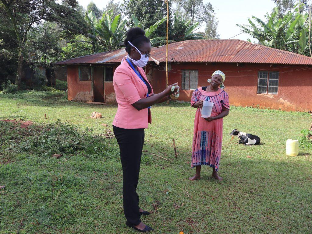 The Water Project : 5-covid19-kenya18128-trainer-olivia-training-on-handwashing