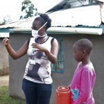 The Water Project: Elutali Community, Obati Spring -  Olivia Bomji Conducting Handwashing Training