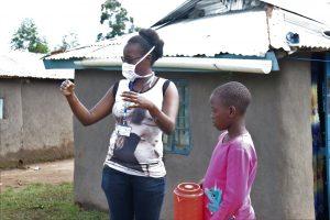 The Water Project:  Olivia Bomji Conducting Handwashing Training