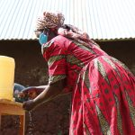 The Water Project: Eluhobe Community, Amadi Spring -  She Demonstrated The Handwashing Nicely