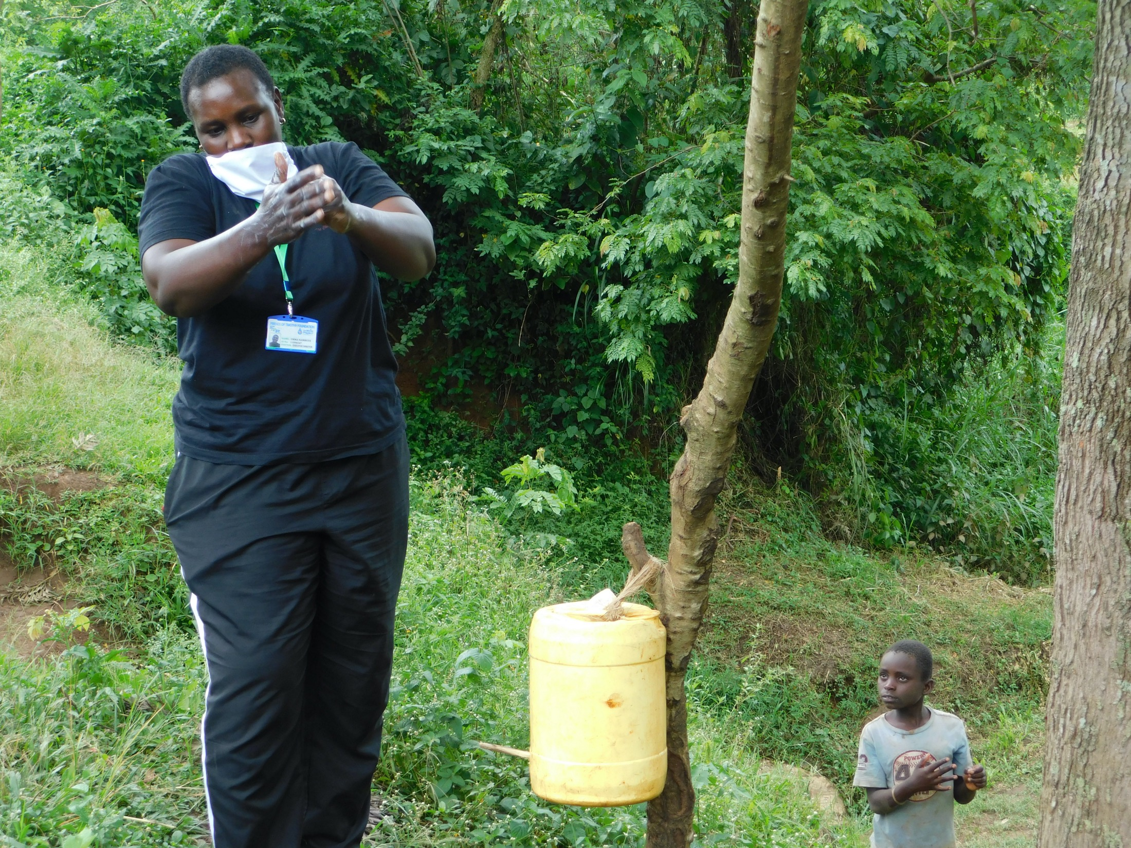 The Water Project : 5-covid19-kenya18313-emmah-leads-handwashing-session