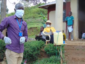 The Water Project:  Facilitator With Protective Gear At The Training