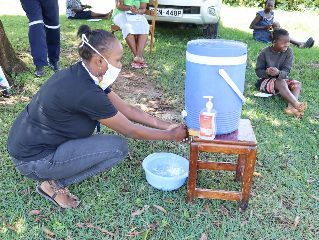 The Water Project : 5-kenya19094-covid19-handwashing-demonstration-4