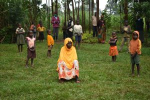 The Water Project:  Social Distanced Participants At The Training Brave The Rain