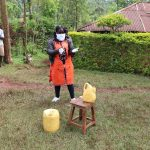 The Water Project: Wanzuma Community, Wanzuma Spring -  Proper Handwashing Demonstration