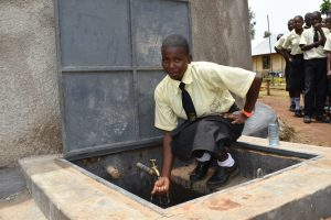 The Water Project:  Enjoying Water From The Rain Tank