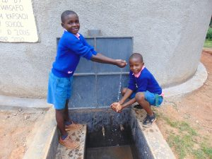 The Water Project:  Pupils Celebrating At Water Point