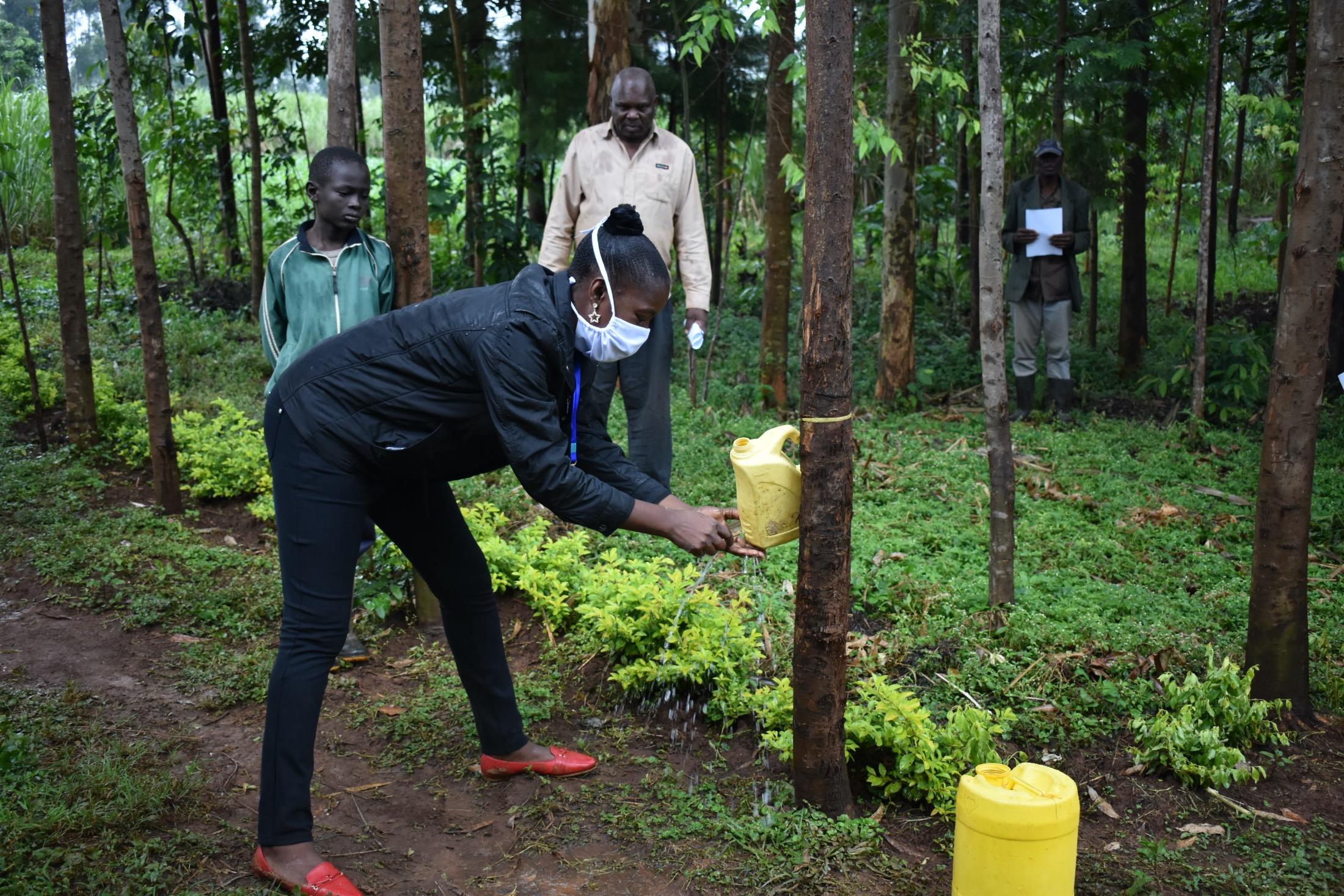 The Water Project : 6-kenya19115-covid19-proper-handwashing-demonstrations-3