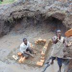The Water Project: Shikangania Community, Abungana Spring -  Brickwork Begins