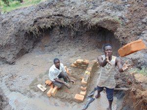 The Water Project:  Brickwork Begins