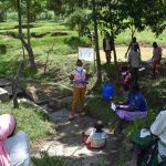 The Water Project: Ingavira Community, Laban Mwanzo Spring -  Training Ongoing At The Spring