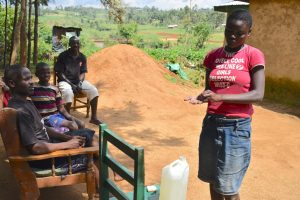 The Water Project:  Lucy Demonstrates Proper Way Of Handwashing