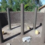 The Water Project: Kapsaoi Primary School -  Tank Pillers Freshly Cemented
