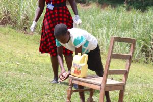 The Water Project:  A Girl Demonstrating Handwashing