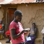 The Water Project: Musango Community, M'muse Spring -  Lucy Demonstrates Proper Way Of Handwashing